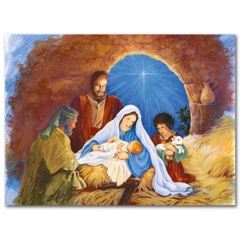 Holy Family And Shepherds Spirit Of Christmas Card Garratt Publishing