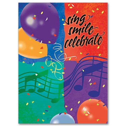 Sing Smile Celebrate Birthday Card Pack 10