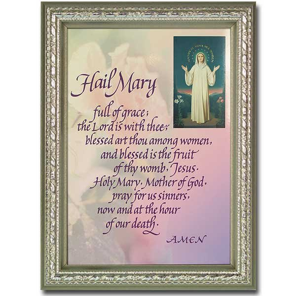 The Hail Mary/Magnificat Framed Print-5 X 7