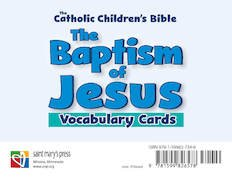 Baptism of Jesus Vocabulary Cards Catholic Children's Bible