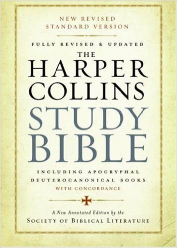 HarperCollins Study Bible NRSV Fully Revised and Updated including Apocryphal Deuterocanonical Books with Concordance Paperback