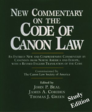 New Commentary on the Code of Canon Law Study Edition paperback