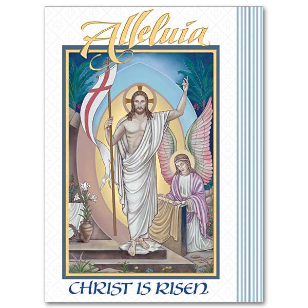 Alleluia Christ is Risen Easter Card pack 10