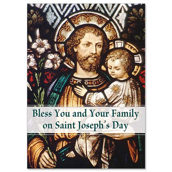 Bless You and Your Family St Joseph's Day card pack of 5