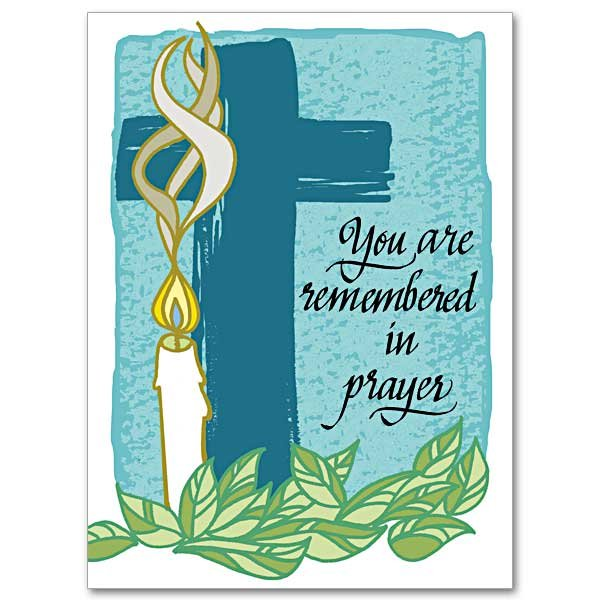 You Are Remembered in Prayer- Get well Card pack of 10