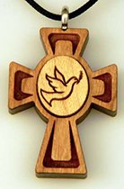 Confirmation Dove medallion wooden cross
