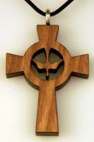 Dove cut out wooden cross