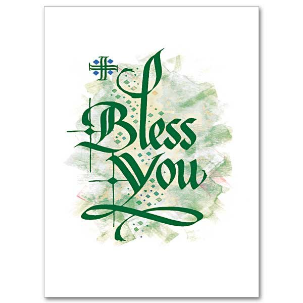 Bless You - Abbey Irish Thank you Card pack of 10