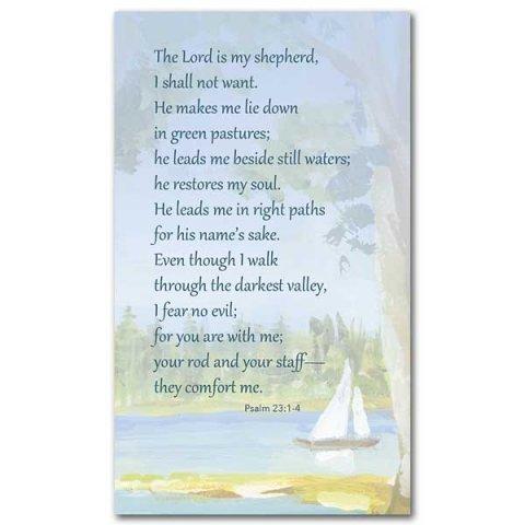 The Lord Is My Shepherd Psalm 23 Prayer Card Pack 25 Garratt Publishing