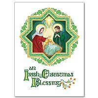 an irish christmas blessing christmas card pack of 20
