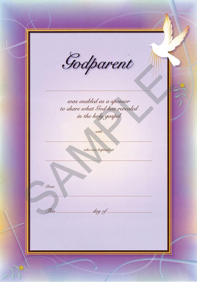 Godparent Certificate Pack Of 10 Broughton Publishing Garratt