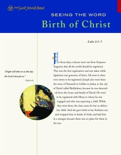Seeing the Word Series 1 Birth of Christ Pack of 10 Leaflets Saint Johns Bible