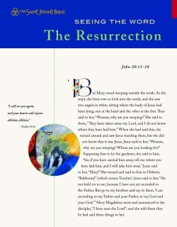 Seeing the Word Series 1 The Resurrection Pack of 10 Leaflets Saint Johns Bible