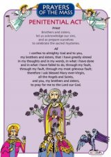 Prayers of the Mass Laminated Poster Set from the Australian Children's Mass Book