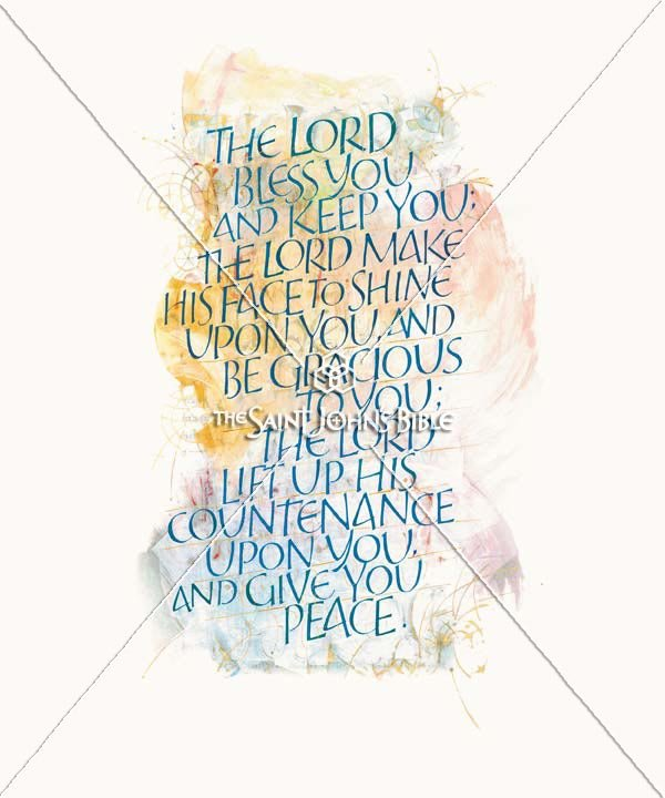 Lord Bless You Numbers 6:23 Featured Print from the Saint Johns Bible