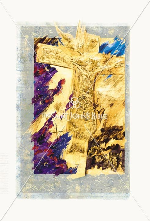 Crucifixion Luke 23 Featured Print from the Saint Johns Bible