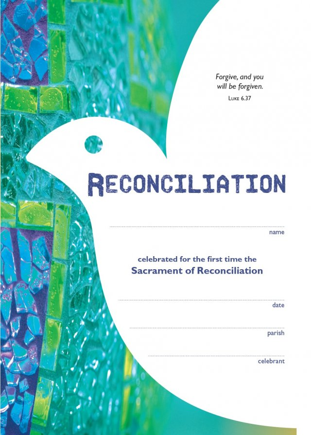 Becoming Catholic Reconciliation Certificate