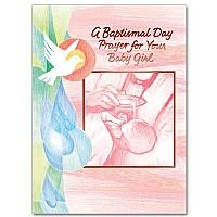 A Baptismal Day Prayer for Your Baby Girl Baptism Card pack of 10 cards