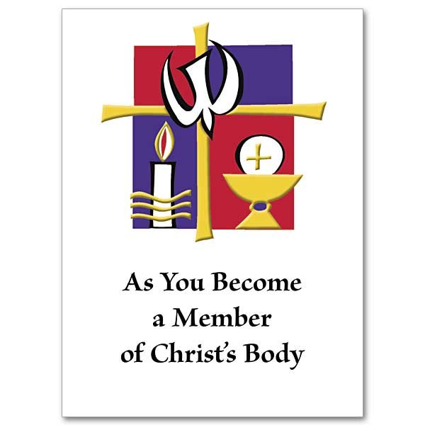 As You Become a Member of Christ's Body RCIA Full Initiation Card pack 10