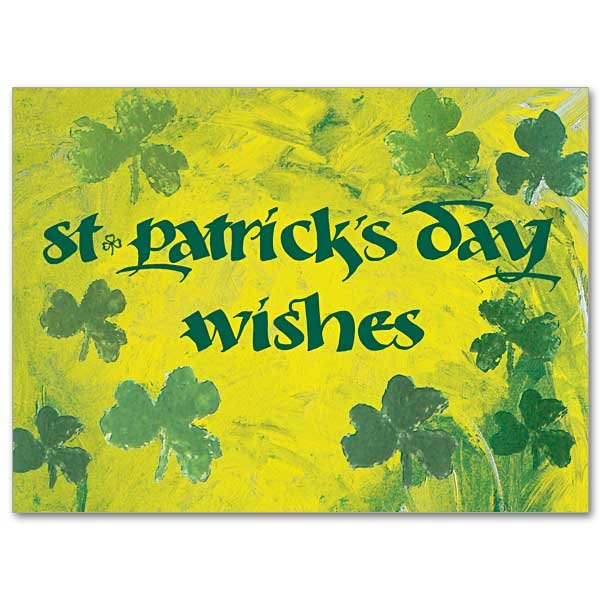 St. Patrick's Day Blessings Rain Down St Patricks Day Card pack of 10