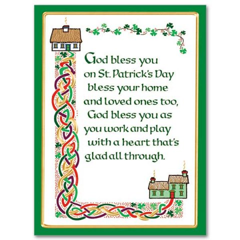 God Bless You on St. Patrick's Day- St Patricks Day Card pack of 10