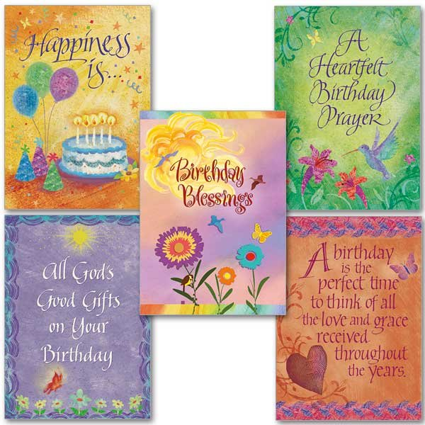 Birthday Butterflies Collection- Assorted cards pack of 5