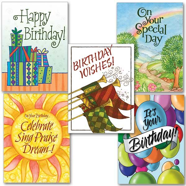 Birthday Celebration Collection- Assorted Birthday cards pack of 10