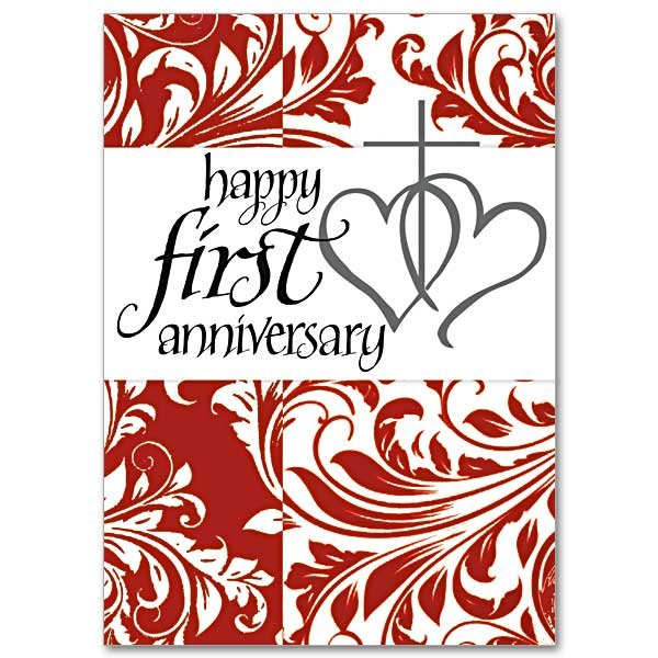 Happy First Anniversary- 1st Wedding Anniversary Card pack of 5