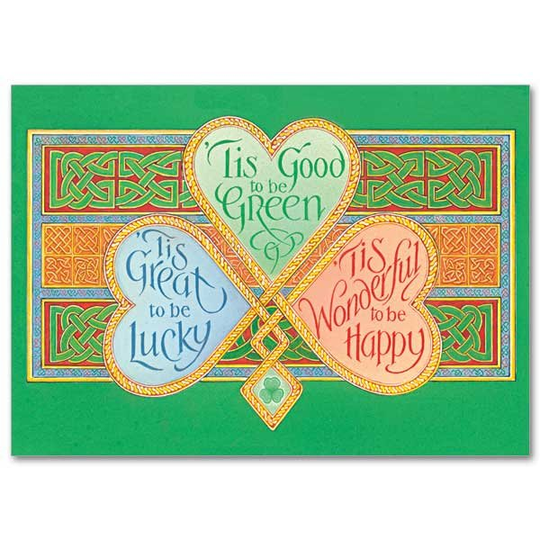 'Tis Good to Be Green- St Patrick's Day Card pack of 5