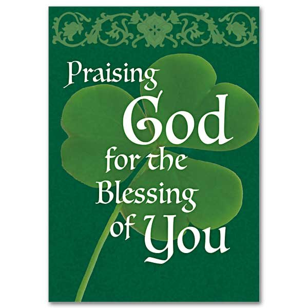 Praising God for the Blessing of You- Abbey Irish Thank You Card pack of 5