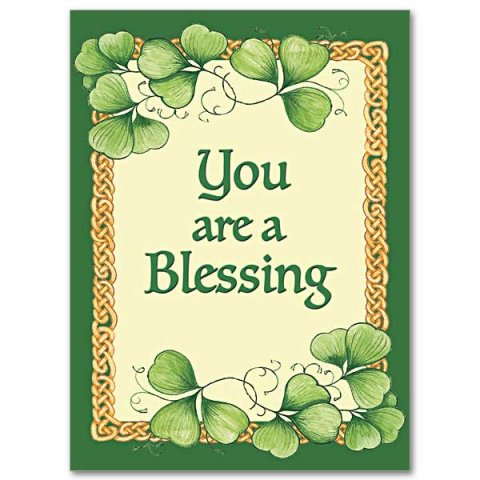 You Are a Blessing - Abbey Irish Thank You Card pack of 10