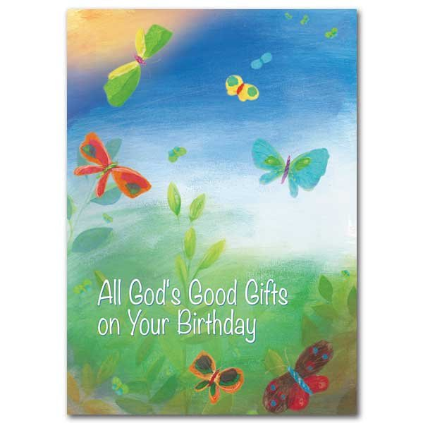All God's Good Gifts on Your Birthday - Birthday card pack 5