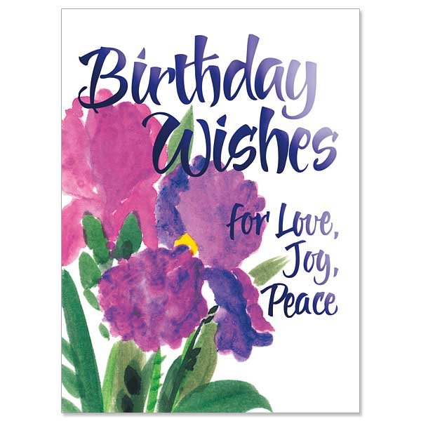 Birthday Wishes for Love, Joy, Peace- Birthday Card pack 10