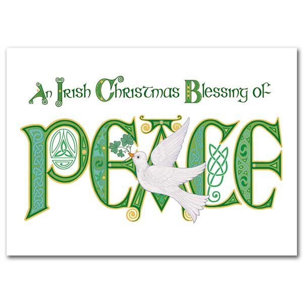 an irish christmas blessing of peace christmas card box of 18 garratt publishing