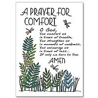 A Prayer for Comfort Sympathy Card pack of 5