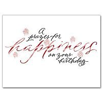 A Prayer for Happiness On Your Birthday Birthday card pack of 10