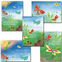 Birthday Butterflies Collection pack of 5 cards
