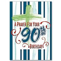 A Prayer For Your 90th Birthday- Birthday card pack of 5