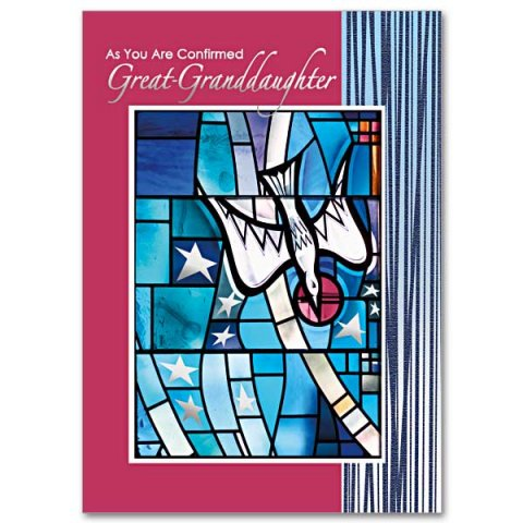 As You Are Confirmed, Great-Granddaughter - Confirmation Card pack of 5