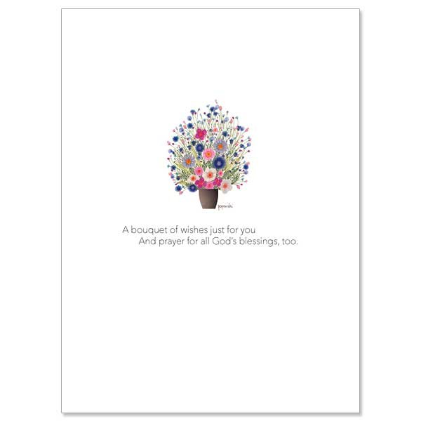 A Bouquet of Wishes Just for You Birthday card pack of 10