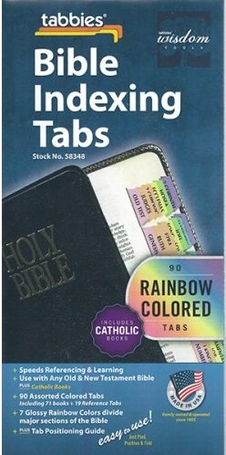 Bible Indexing Tabs Catholic Rainbow