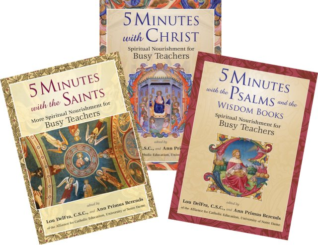 5 Minutes with....series: Spiritual Nourishment for Busy Teachers pack of 3 books