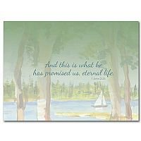 And This Is What He Promised - Celebration of Life Sympathy Card pack of 10 cards