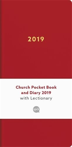 Church Pocket Book and Diary with Lectionary 2019 - red